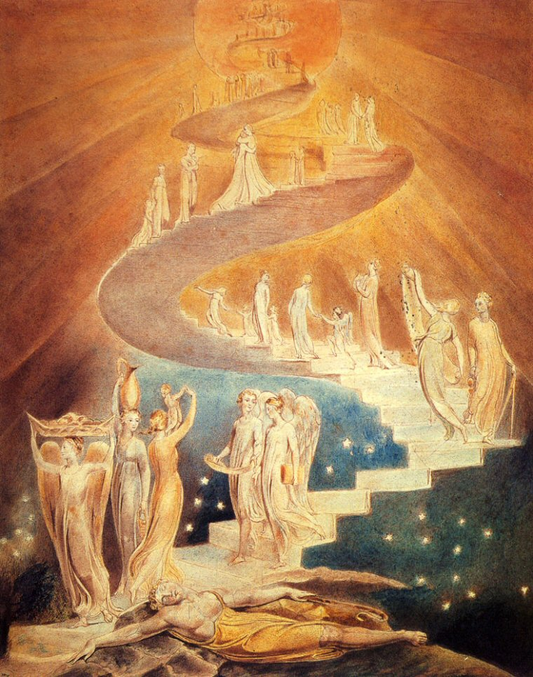 la escalera de Jacob, William Blake